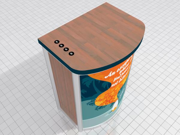 MOD-1267c Modular Pedestal with Locking Storage and Charging Ports -- Image 2