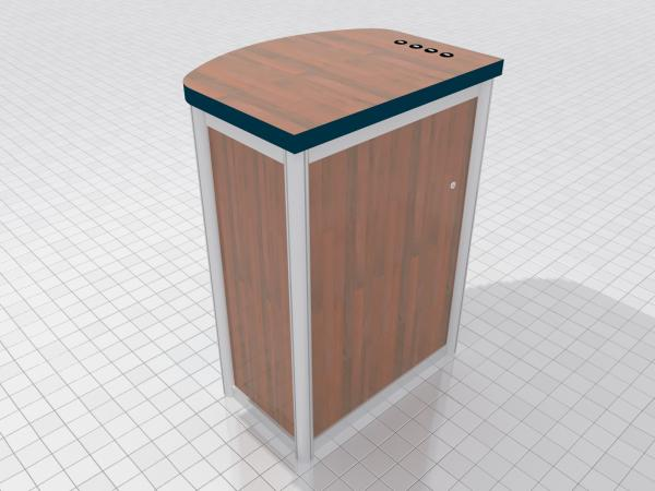 MOD-1267c Modular Pedestal with Locking Storage and Charging Ports -- Image 3