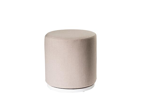 CEOT-036 (Linen Fabric) | Marche Swivel Ottoman -- Trade Show Rental Furniture