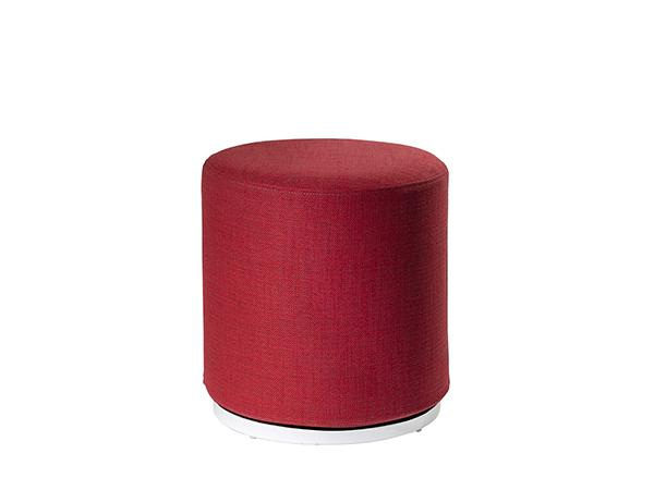 CEOT-041 (Red Fabric) | Marche Swivel Ottoman -- Trade Show Rental Furniture
