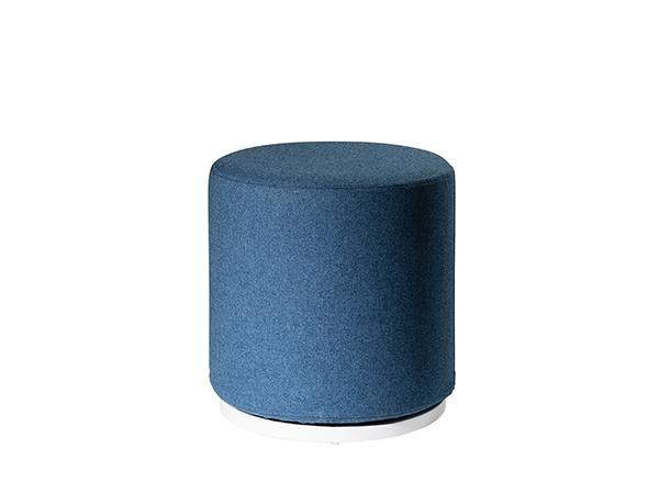 CEOT-034 (Blue Fabric) | Marche Swivel Ottoman -- Trade Show Rental Furniture