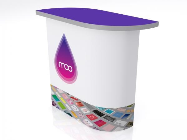 DI-609 Trade Show Pedestal -- Folding Fabric Panels -- Full Graphic (velcro-attached)